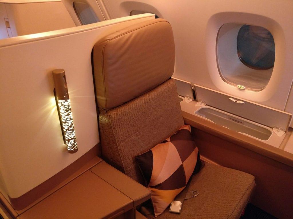 Etihad Airways Business Class Airbus A380