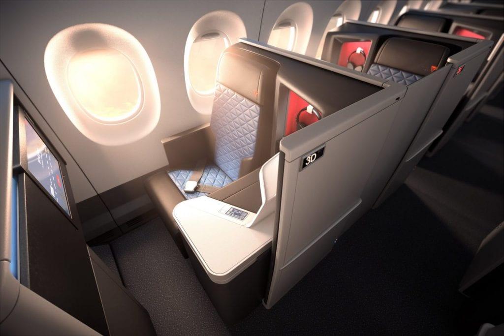 delta neue business class türen