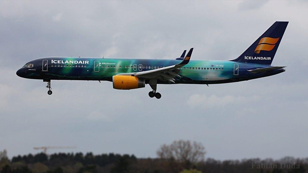 icelandair boeing 757 landeanflug