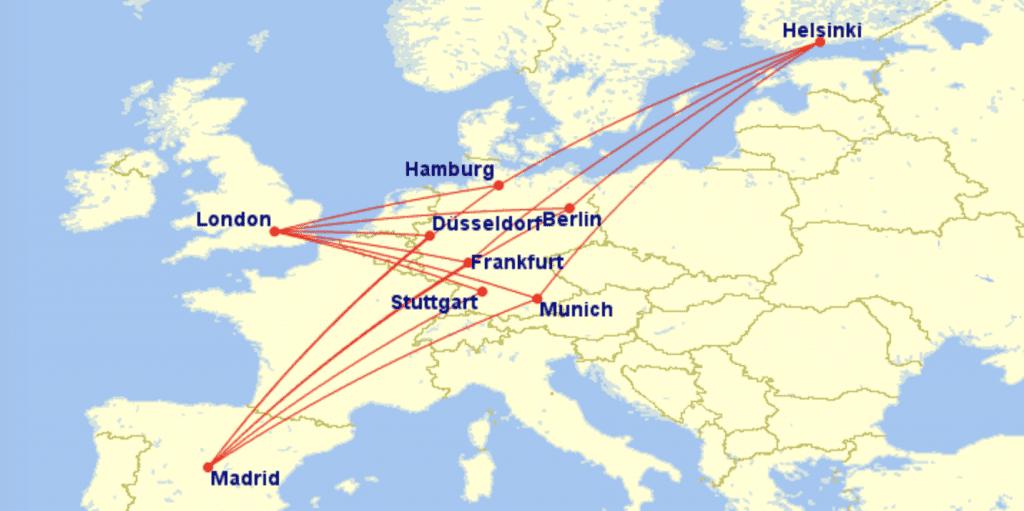 oneworld Partner Flüge nach Deutschland