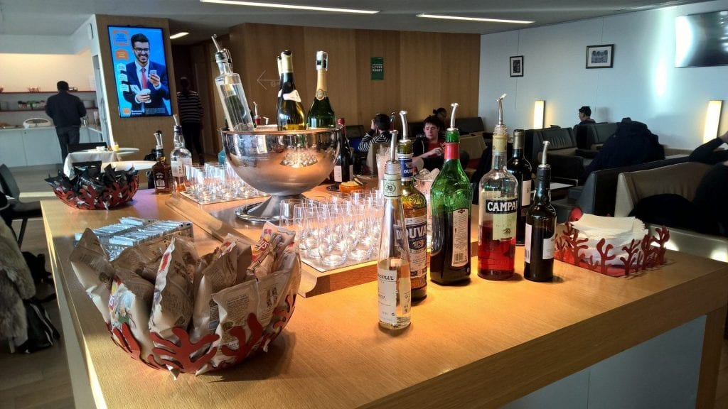 Air France Lounge Paris Buffet