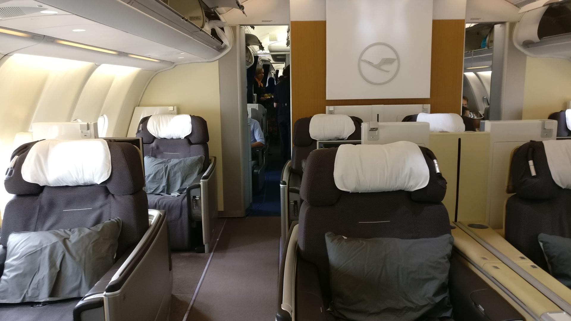 Lufthansa First Class Cabin