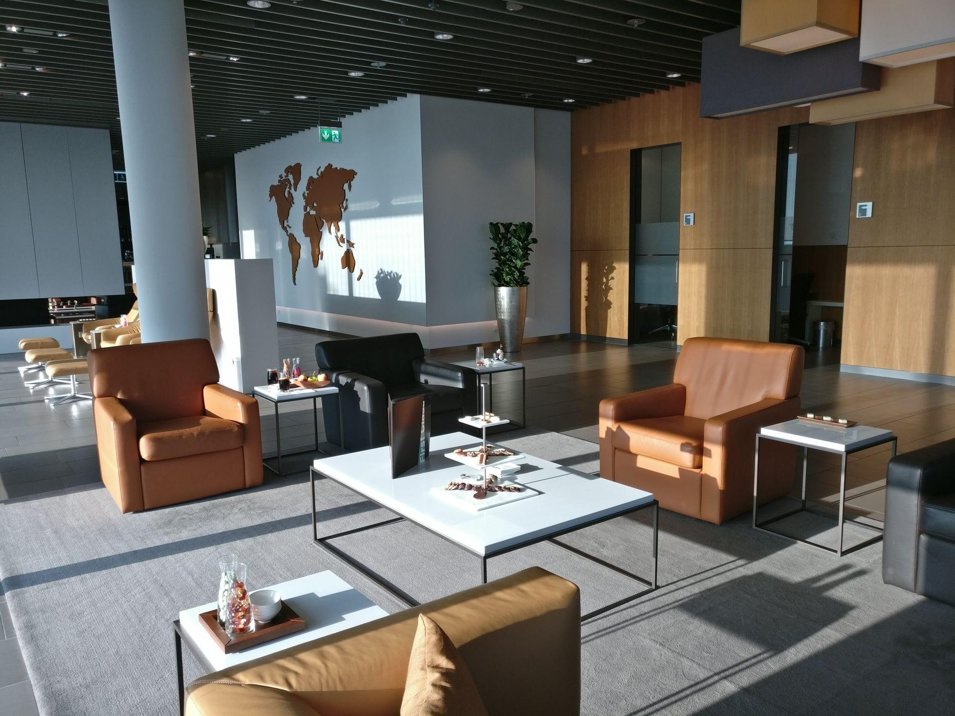 Lufthansa First Class Lounge Munich Seating