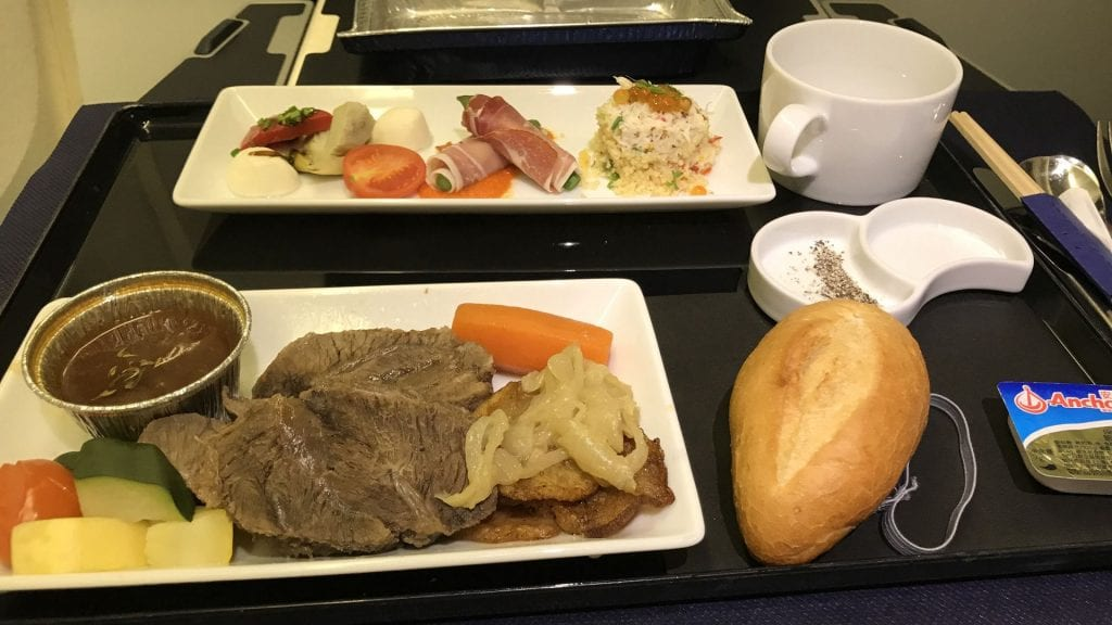 ANA all nippon Airways Business Class boeing 777 Essen