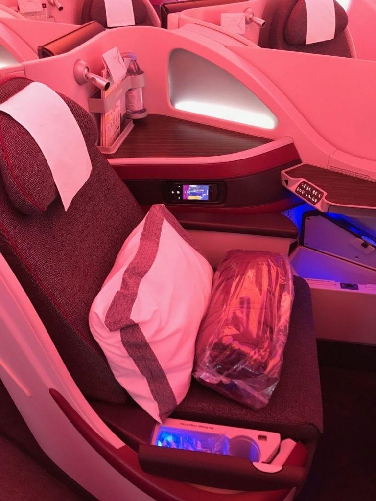 Qatar Airways Business Class Airbus A350 Sitze 1