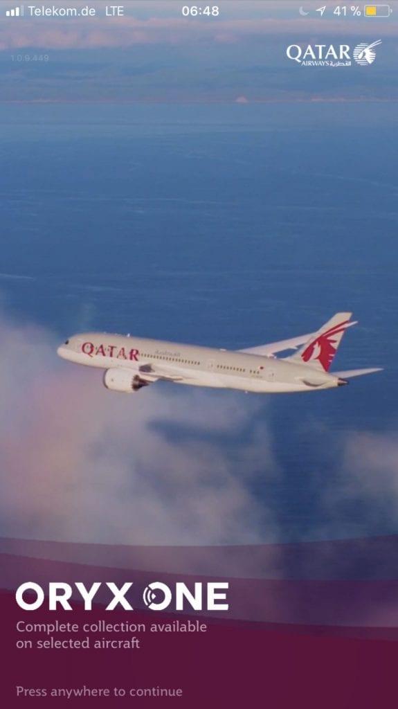 Qatar Airways Oryx One App