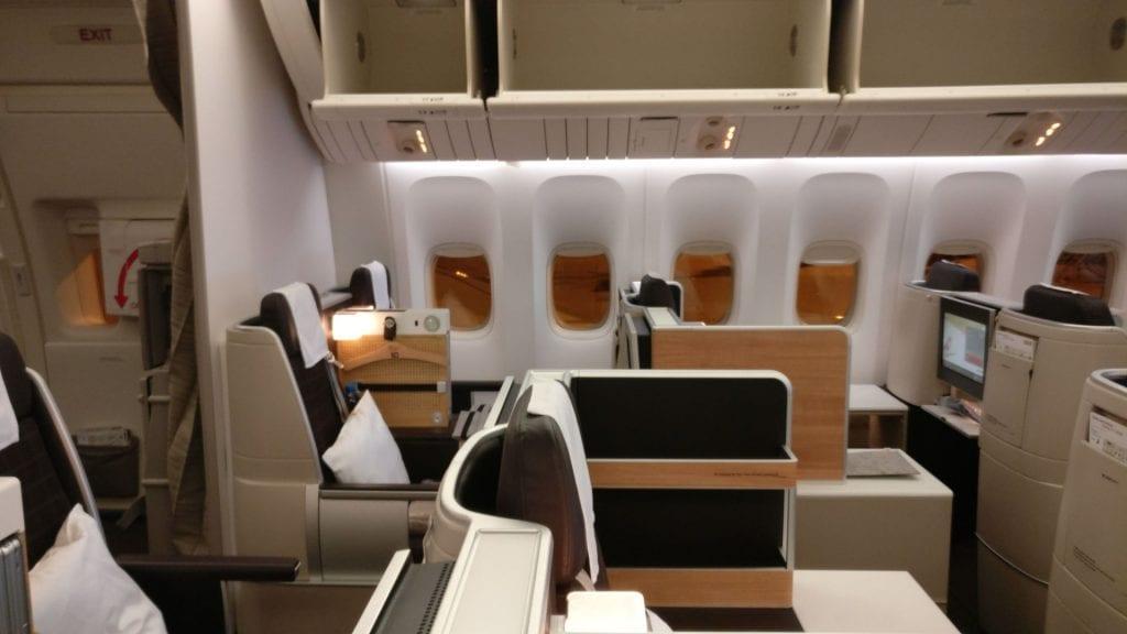 SWISS Business Class Boeing 777 7