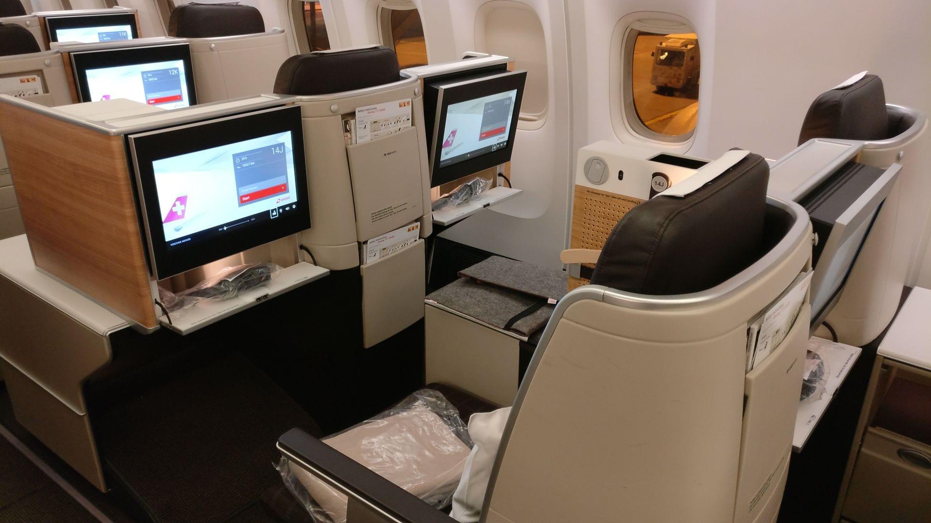 Swiss Business Class Boeing 777 9