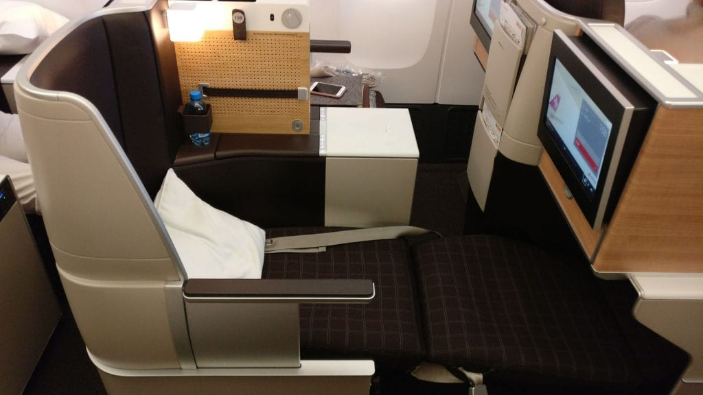 SWISS Business Class Boeing 777 Bed