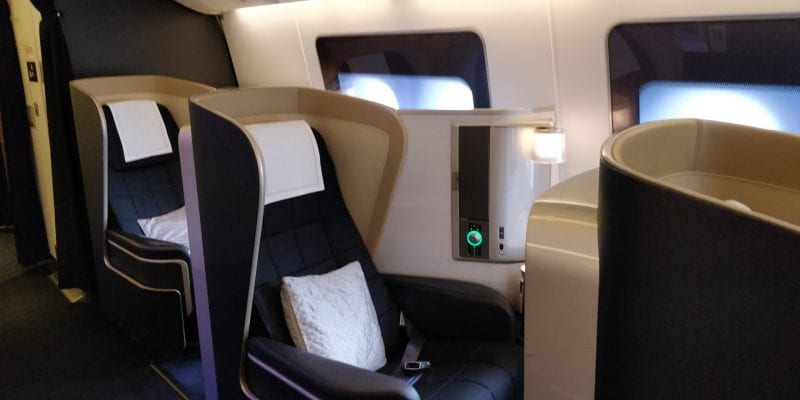 British Airways First Class Boeing 777 Sitze