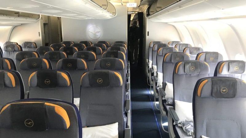lufthansa economy class langstrecke airbus a330 kabine 2
