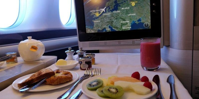 British Airways First Class Boeing 777 Vorspeise