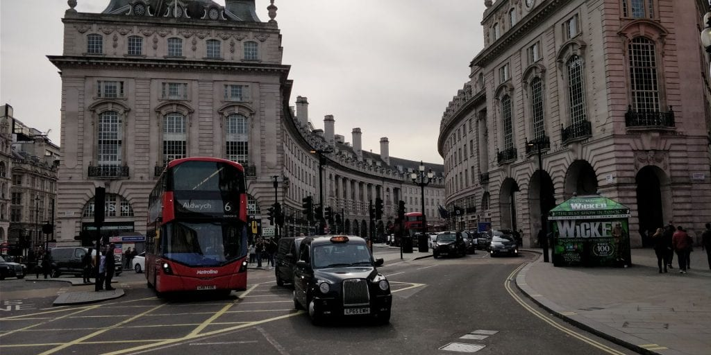 London Stadt Taxi Bus