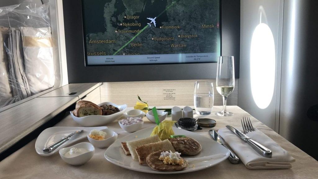asiana first class a380 kaviar