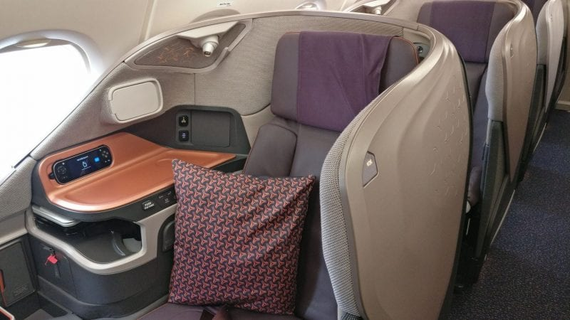 Singapore Airlines Business Class Airbus A380 Sitz 3