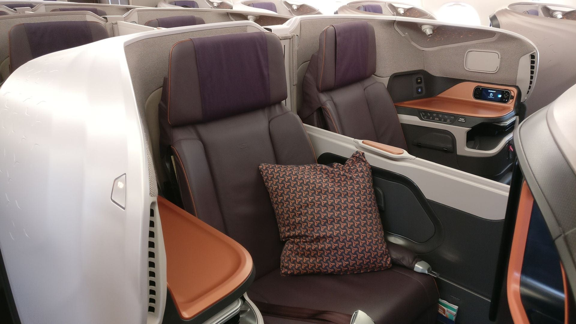 Singapore Airlines Business Class Airbus A380 Sitz 4