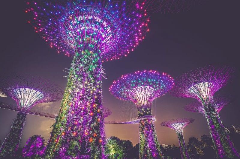 Singapur Garden By The Bay Nacht