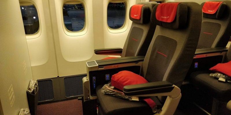 Austrian Airlines Premium Economy Class Sitz Boeing 777