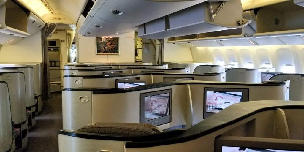 Eva Air Business Class Boeing 777 Grosse Kabine