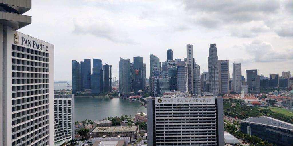 Conrad Singapur Executive Lounge Ausblick