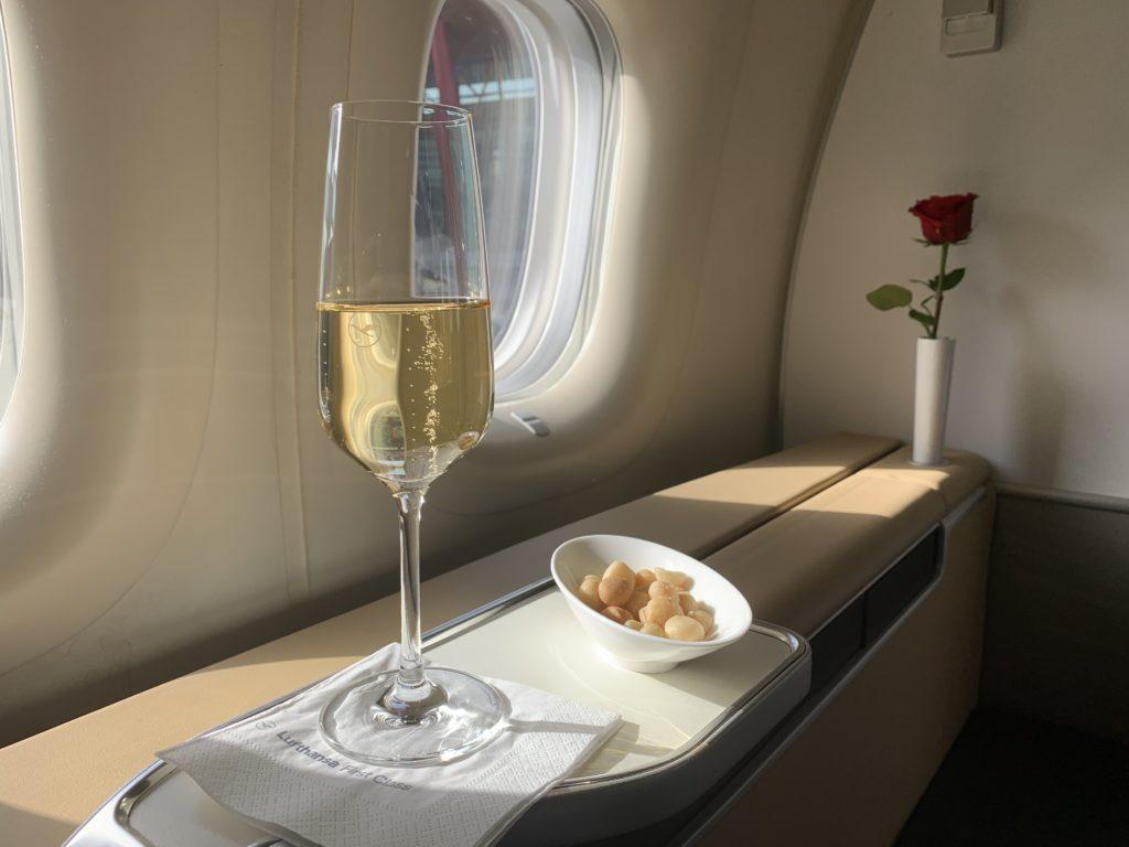 Lufthansa 747 First Class Pre Departure Snack