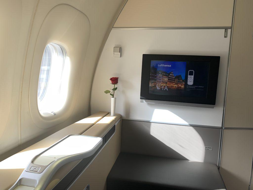 Lufthansa 747 First Class Sitz 1A
