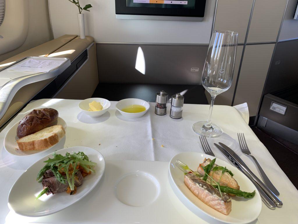Lufthansa 747 First Class Vorspeise