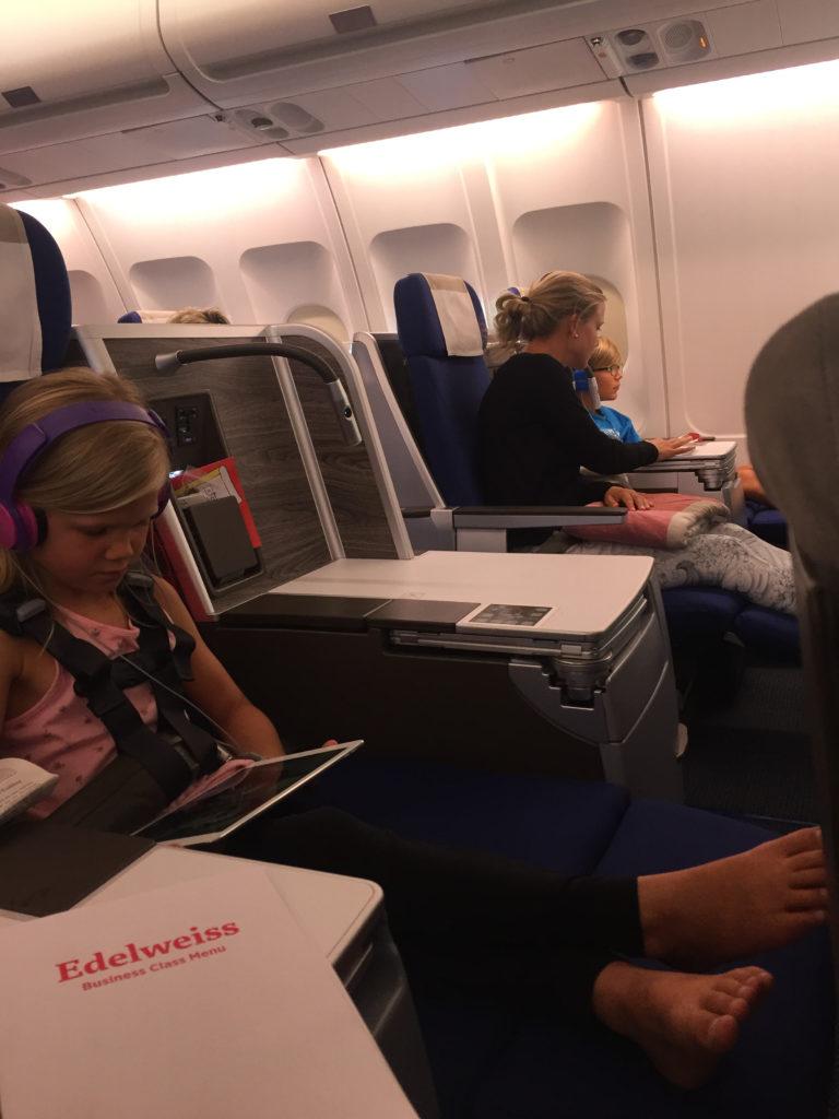 Edelweiss A340 Business Class Sitz