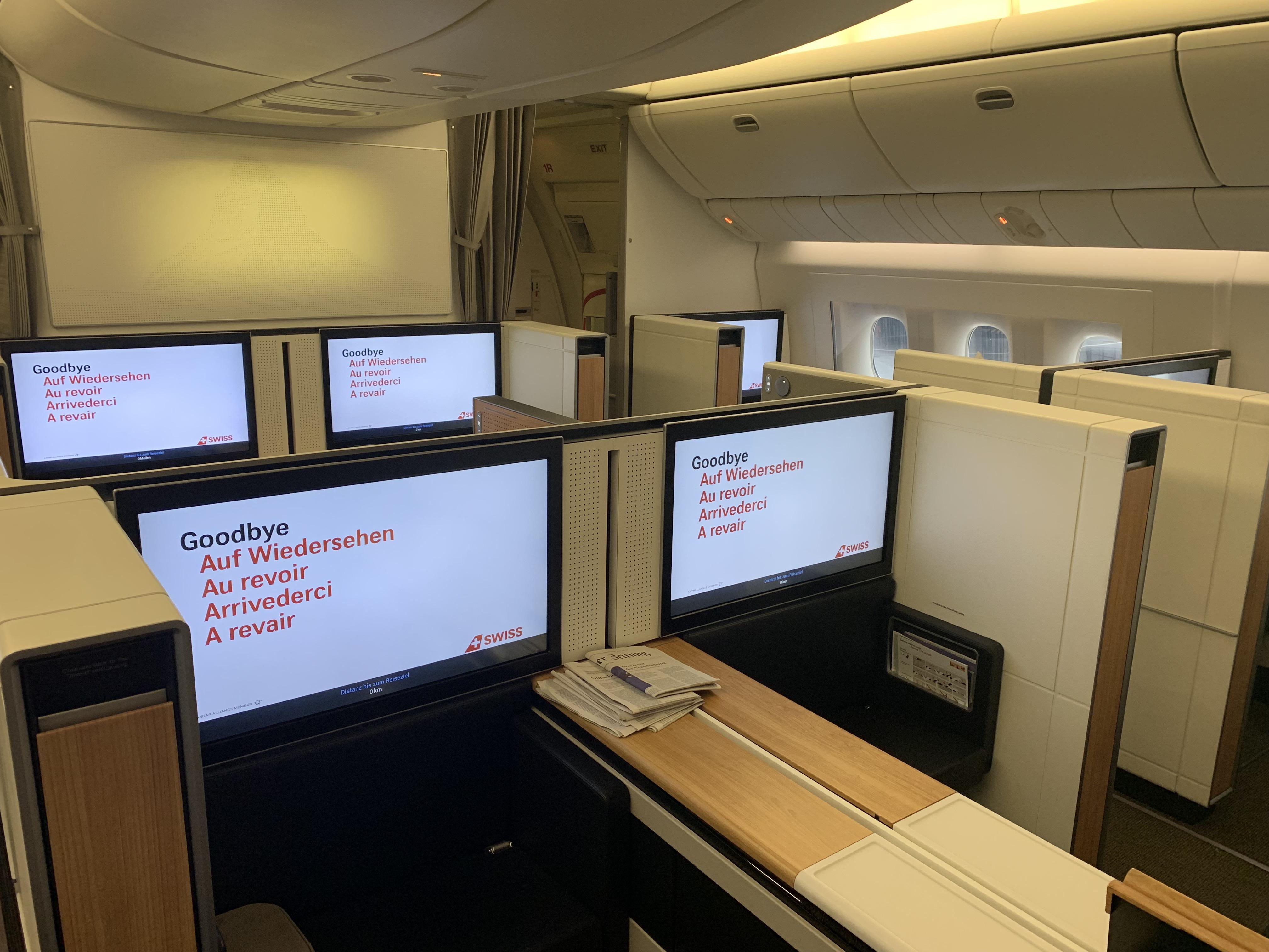 Swiss First Class 777 Kabine