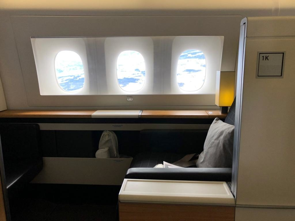Swiss First Class 777 Sitz 1