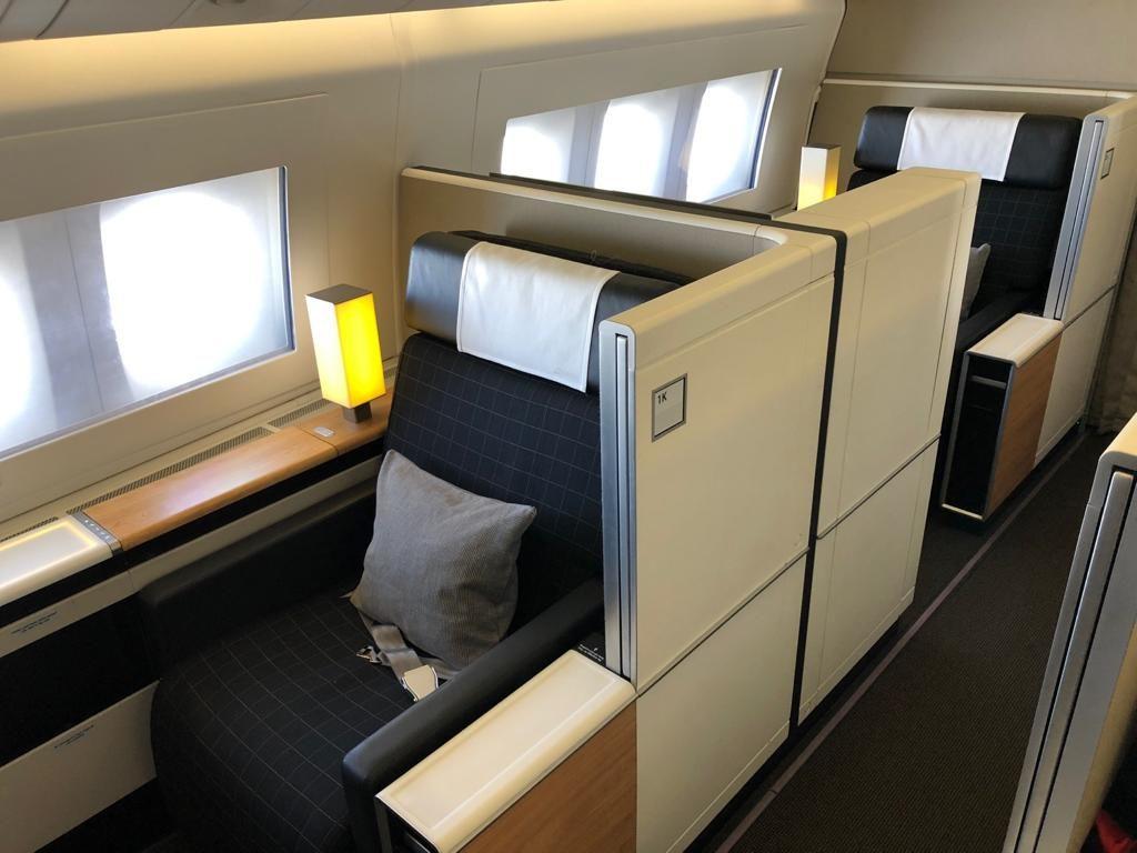 Swiss First Class 777 Sitz 2