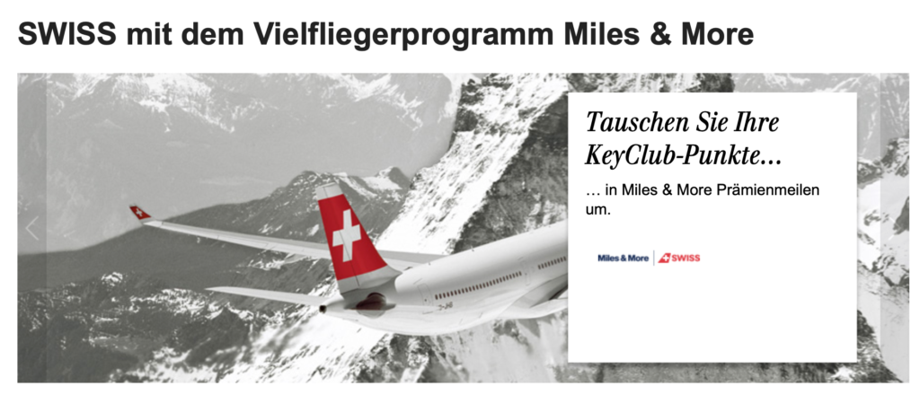 UBS Key Club Tausch Info