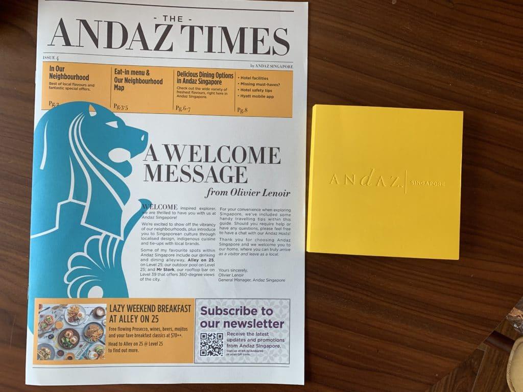 Andaz Singapore Zeitung