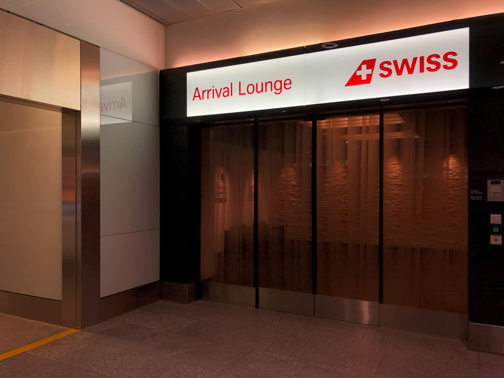 Swiss Arrival Lounge Zurich