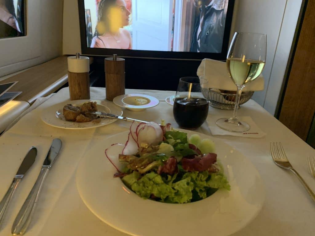 Swiss First Class 777 Vorspeise Salat