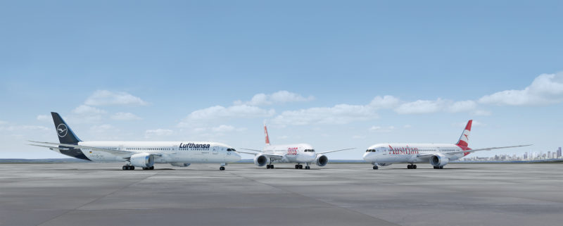 A350 900 787 9 Lufthansa Austrian Swiss