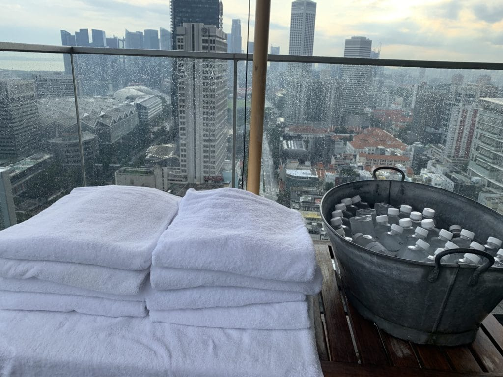 Andaz Singapore Towels And Water