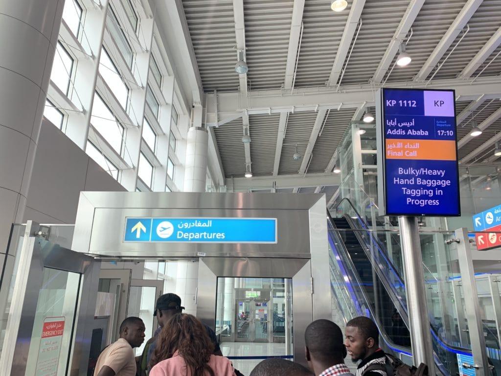 Ethiopian A350 Baggage Check DXB