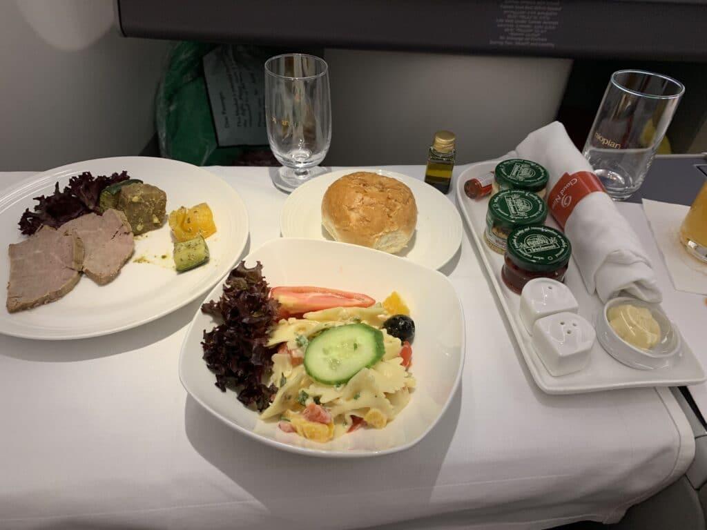 Ethiopian A350 Business Class Appetizer