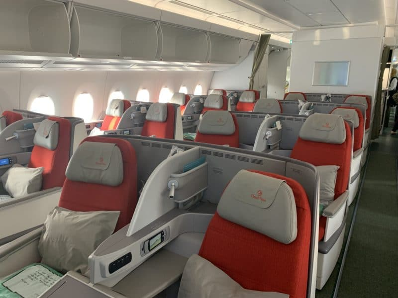 Ethiopian A350 Business Class Kabine