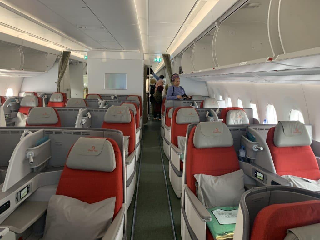 Ethiopian A350 Business Class Kabine Von Rechts