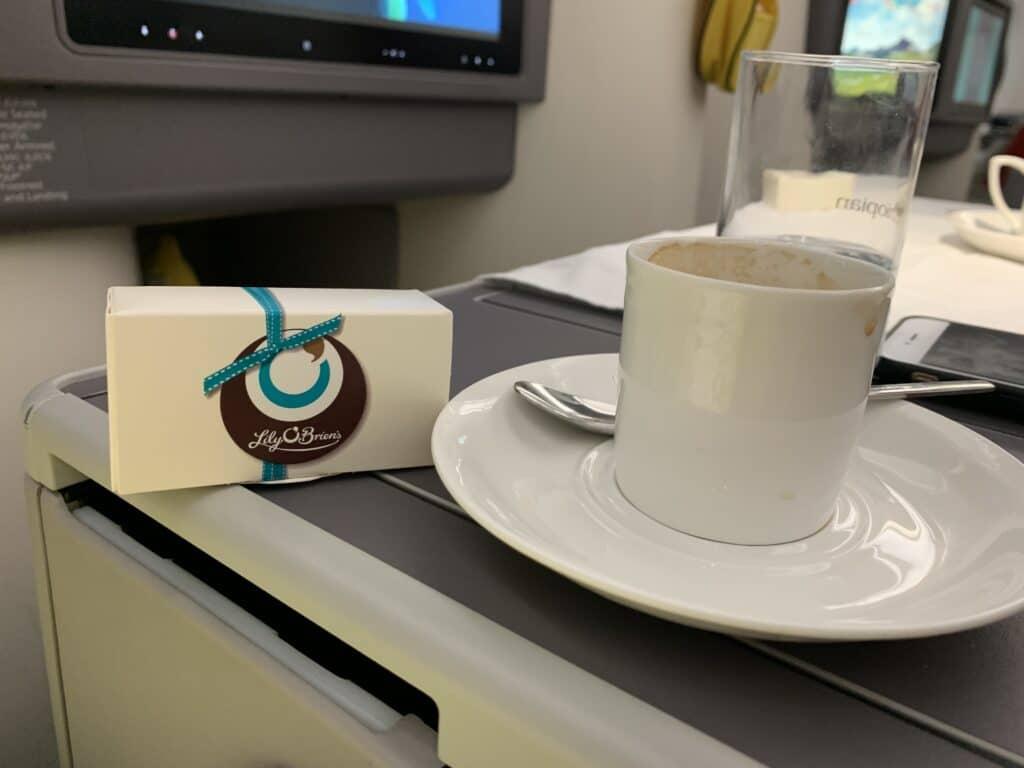 Ethiopian A350 Business Class Kaffee