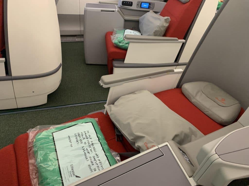 Ethiopian A350 Business Class Lie Flat