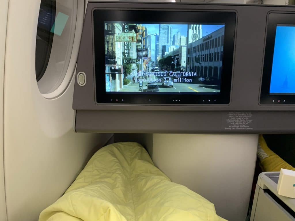 Ethiopian A350 Business Class Lie Flat Mit IFE