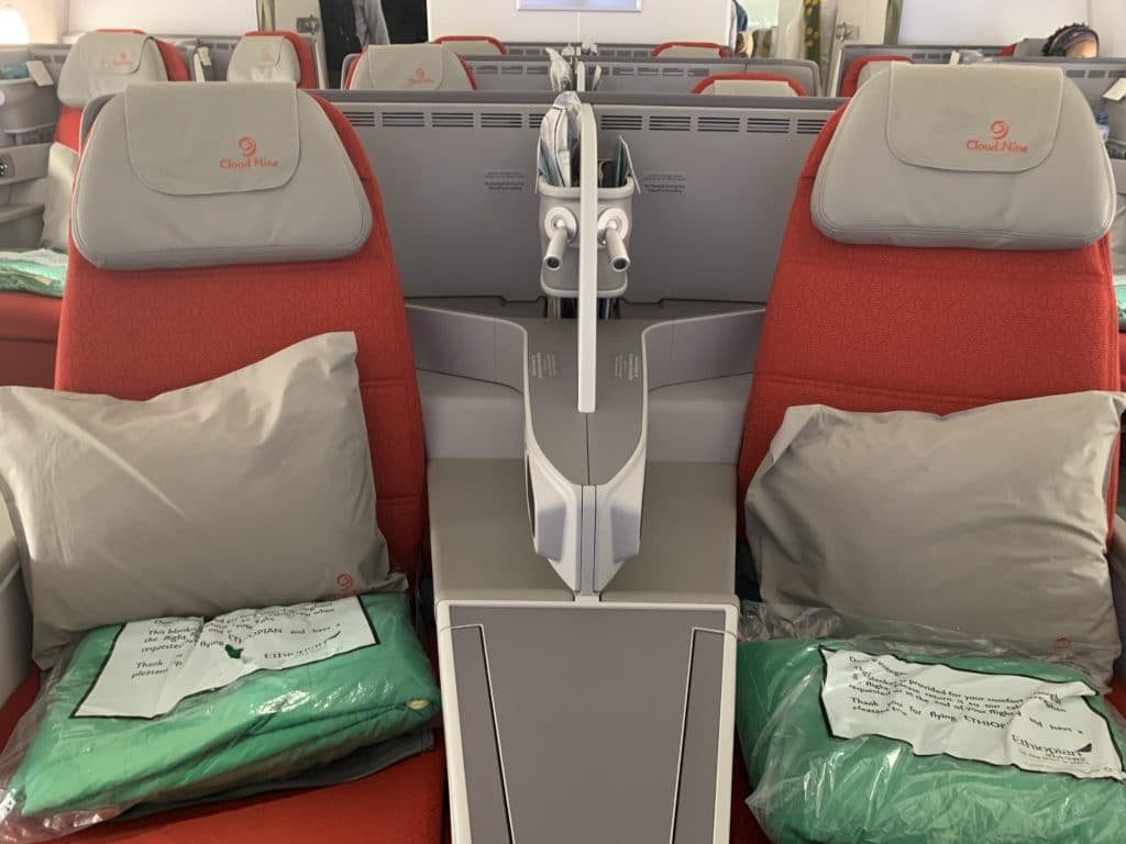 Ethiopian A350 Business Class Sitz Front
