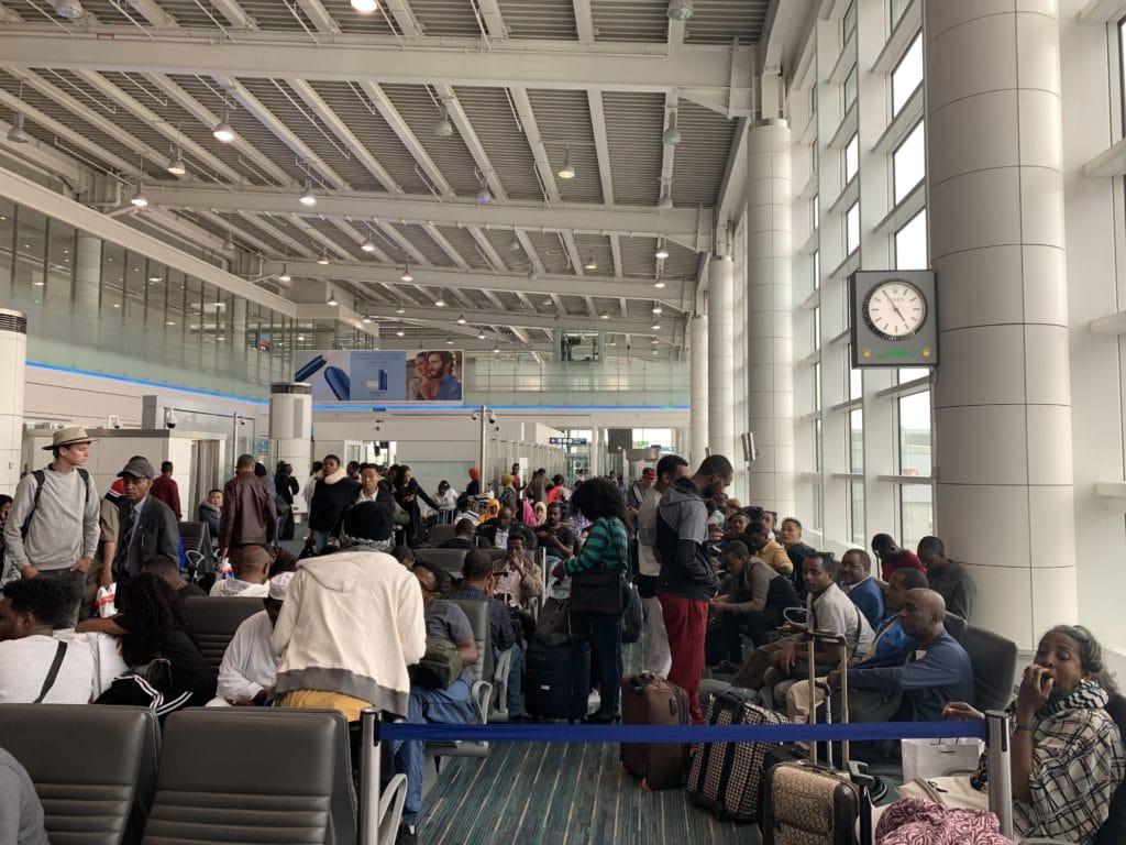 Ethiopian A350 Waiting Area Boarding DXB