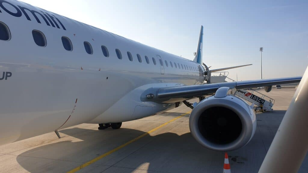 MUC MXP Air Dolomiti Neues Design E190