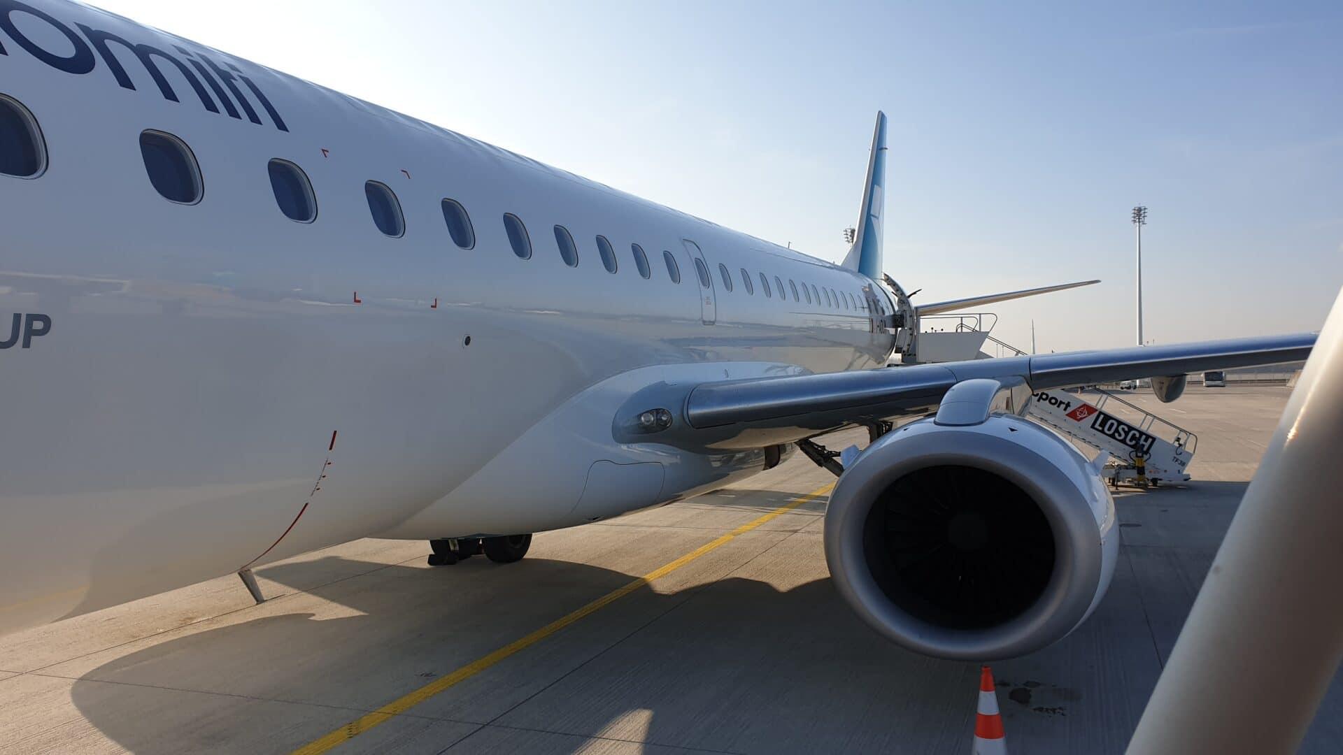 MUC MXP Air Dolomiti Neues Design E190