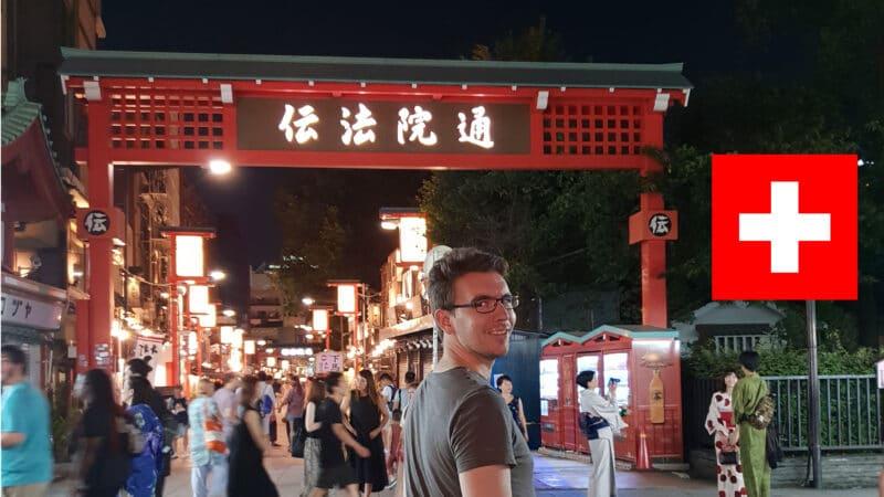 Alex Tokio Wochenrückblick Reisetopia.ch Flagge Japan Tokio Photoshopped