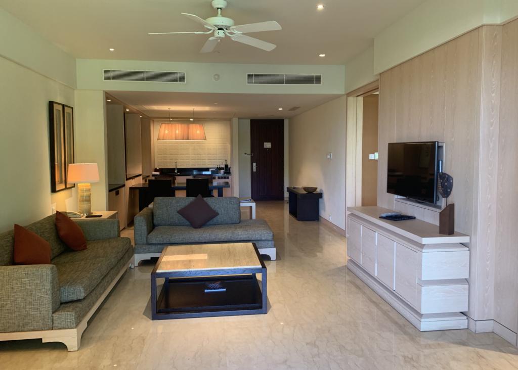 Conrad Bali Suite Wohnzimmer
